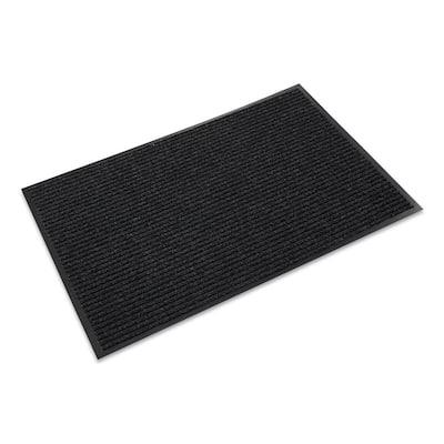 Needle-Rib Charcoal 48 in. x 72 in. Polypropylene Wiper/Scraper Commercial Floor Mat