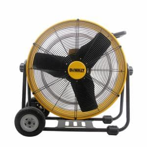 24 in. Heavy-Duty Drum Fan with Extra Long 12 ft. Power Cord and Stepless Speed Control