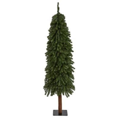 5 ft. Grand Alpine Artificial Christmas Tree on Natural Trunk