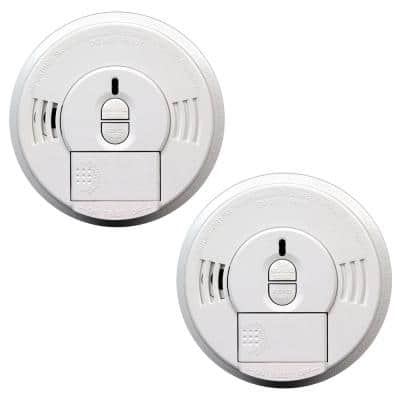 Firex Hardwired Smoke Detector with Adapters, 9-Volt Battery Backup, and Front Load Battery Door (2-Pack)