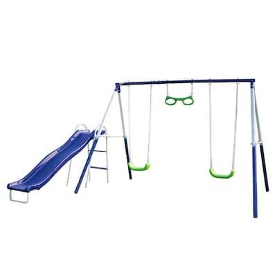 Sierra Vista Metal Swing and Slide Set
