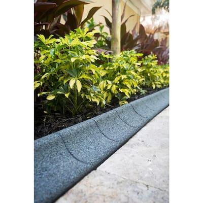 4 ft. Grey Rubber Curb Landscape Edging (36-Count)