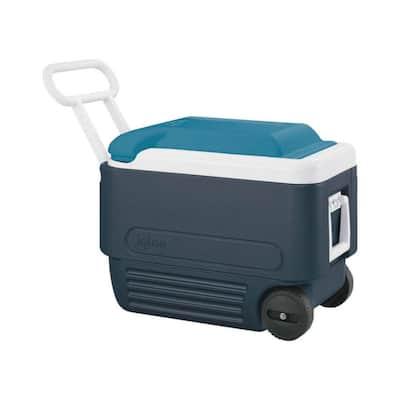MaxCold Roller Cooler 40 qt. Blue