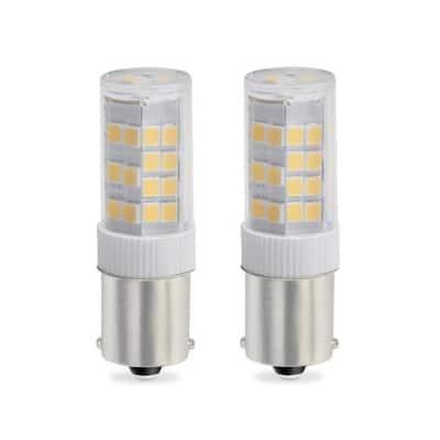 35-Watt Equivalent T4 Dimmable Single-Contact Bayonet LED Light Bulb Soft White Light (2-Pack)