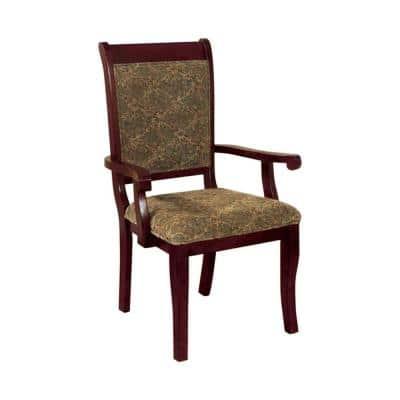 Traditional Antique Cherry Arm Chair (Set of 2)