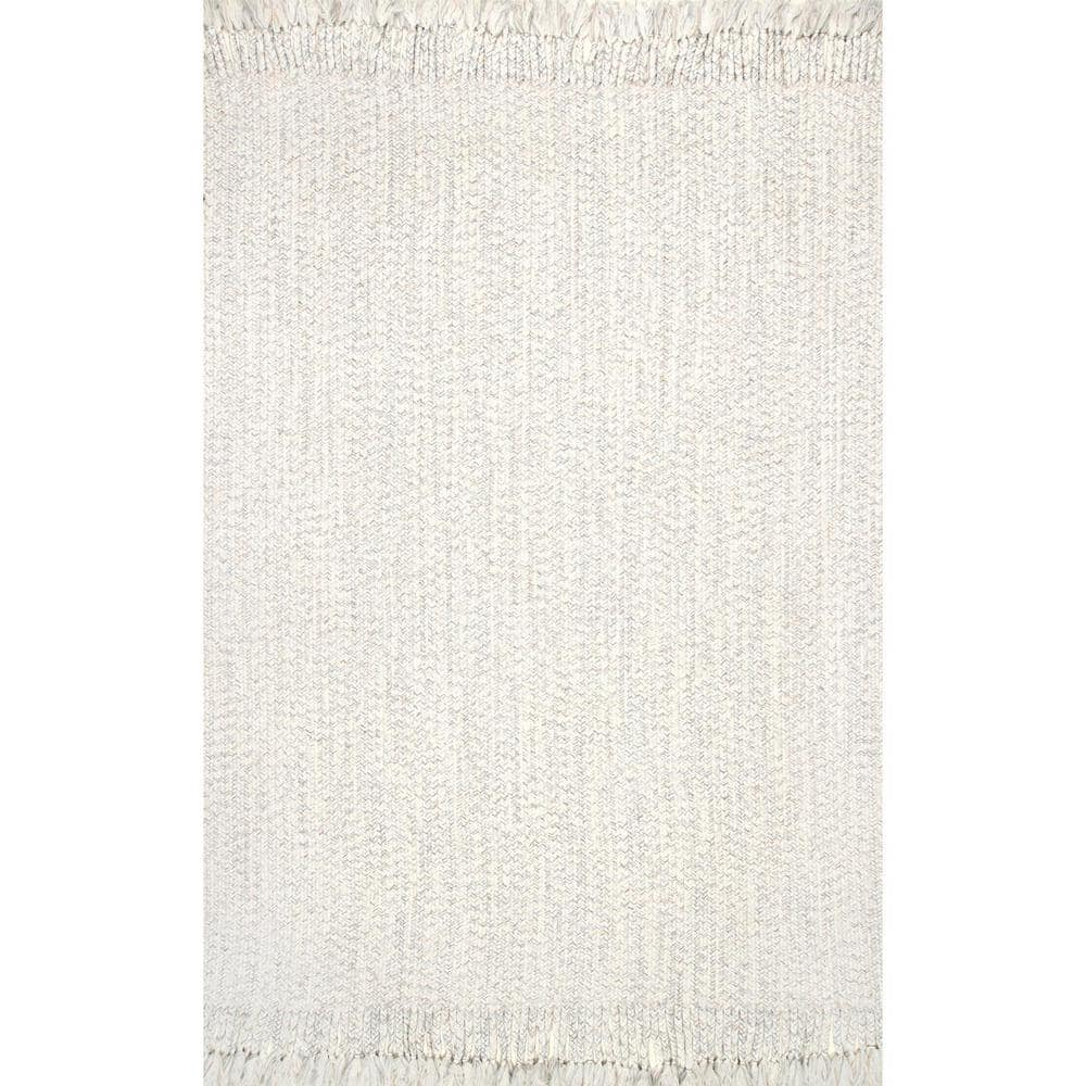 Nuloom Courtney Braided Ivory 9 Ft X 11 Ft Indoor Outdoor Area Rug Hjfv11b 860106 The Home Depot