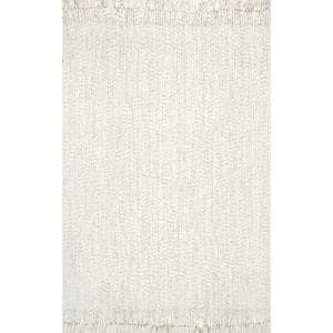 Courtney Braided Ivory 8 ft. Indoor/Outdoor Square Area Rug