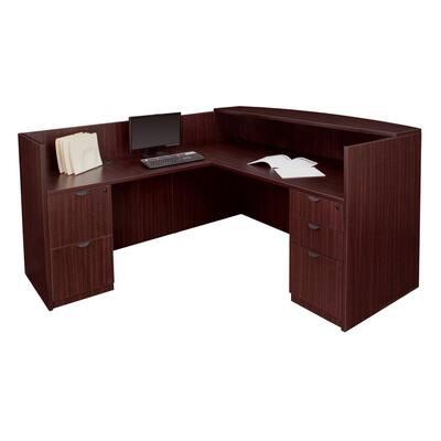 Legacy Mahogany Double Full Pedestal Reception Desk