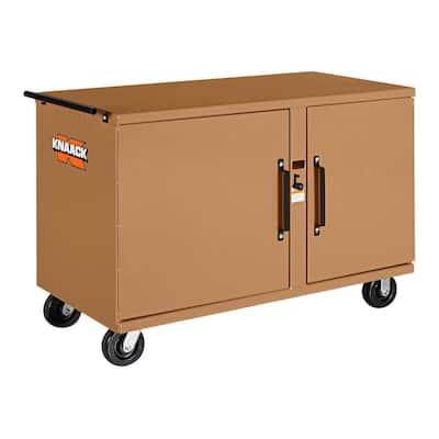 37 in. W x 26 in. L x 54 in. H, Steel Mobile Rolling Workbench, 2,500 lb. Capacity