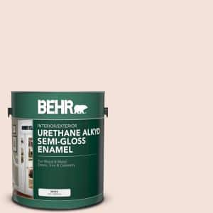 Behr 1 Gal Rd W12 Soft Sunrise Urethane Alkyd Semi Gloss Enamel Interior Exterior Paint 390001 The Home Depot