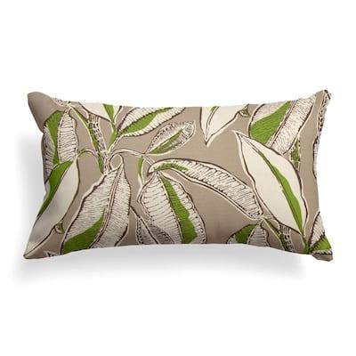 Panama Tan Outdoor Lumbar Throw Pillow