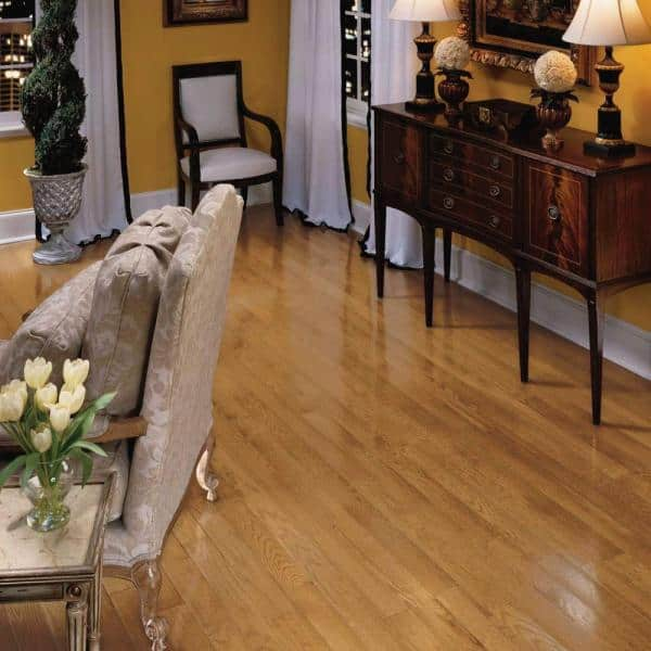 Bruce Plano Marsh 3 4 In Thick X 3 1 4 In Wide X Varying Length Solid Hardwood Flooring 22 Sq Ft Case C1134 The Home Depot