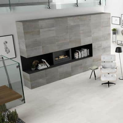 Metallic White 12 in. x 24 in. Matte Ceramic Floor and Wall Tile (21.85 sq. ft./Case)