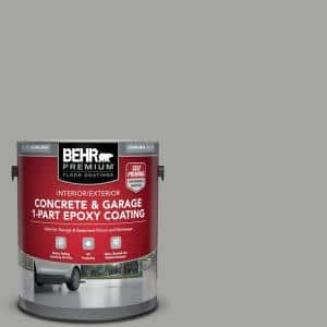1 gal. #901 Silver Gray Self-Priming 1-Part Epoxy Satin Interior/Exterior Concrete and Garage Floor Paint