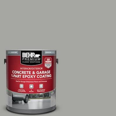 1 gal. #901 Silver Gray Self-Priming 1-Part Epoxy Satin Interior/Exterior Concrete and Garage Floor Paint