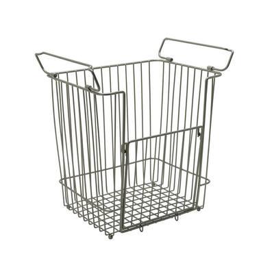 Large Stacking Basket in Satin Nickel