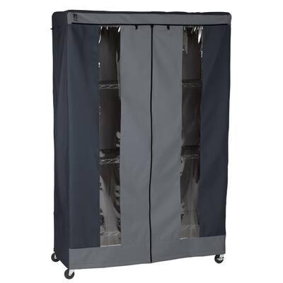 48 in. H x 18 in. D x 72 in. H Black Premium Garage Shelf Cover