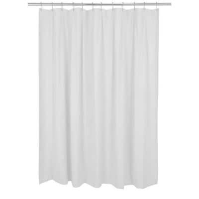 70 in. x 72 in. White Mildew Resistant Shower Curtain Liner