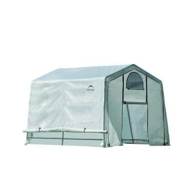 10 ft. W x 10 ft. D x 8 ft. H GrowIt Greenhouse-In-A-Box with Patent-Pending Stabilizers and Easy-Slide Cross Rails