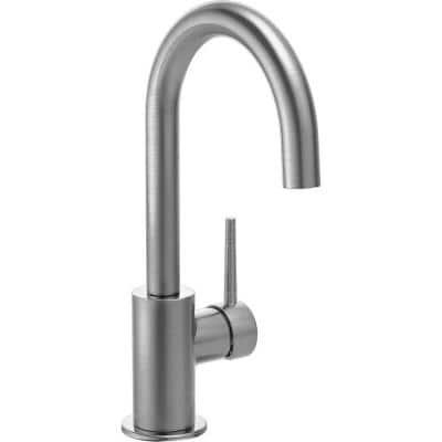 Contemporary Single-Handle Bar Faucet in Arctic Stainless