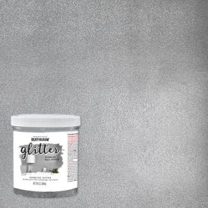 28 oz. Sterling Silver Glitter Interior Paint (2-Pack)