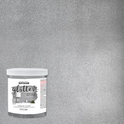 28 oz. Sterling Silver Glitter Interior Paint