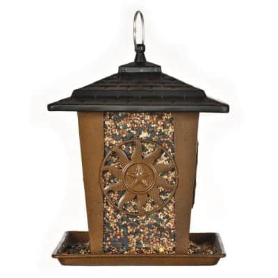 Sun and Star Lantern Hanging Bird Feeder - 3.5 lb. Capacity