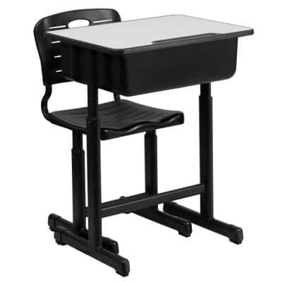 Grey Open Front Student Desk and Chair Sets