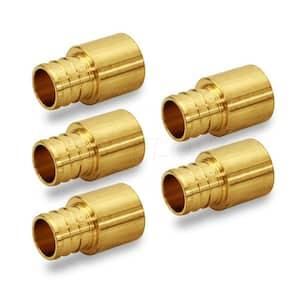1 in. x 1 in. Brass Female Sweat Copper Adapter x Pex Barb Pipe Fitting (5-Pack)