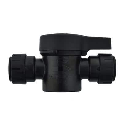 1/2 in. Push-to-Connect Plastic Shut Off Valve (2-Pack)