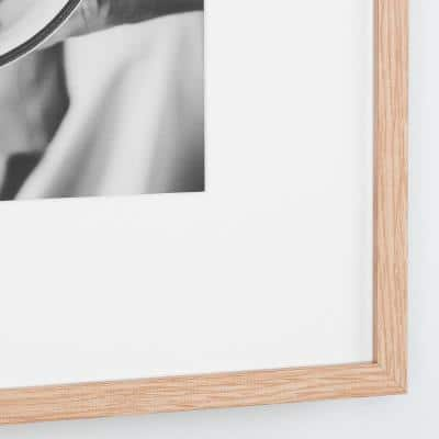 StyleWell Natural Wood Frame with White Matte Gallery Wall Picture Frames (Set of 7)