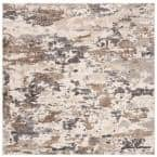 Spirit Taupe/Ivory 7 ft. x 7 ft. Square Area Rug