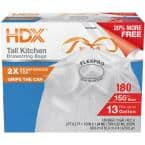 13 Gal. FlexPro Reinforced Top Drawstring Kitchen Bags (180-Count)