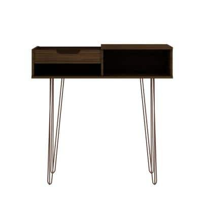 Rockefeller 40 in. Brown Standard Rectangle Composite Console Table with Storage