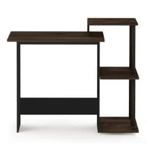 40 in. Rectangular Brown Computer Desk with Shelves