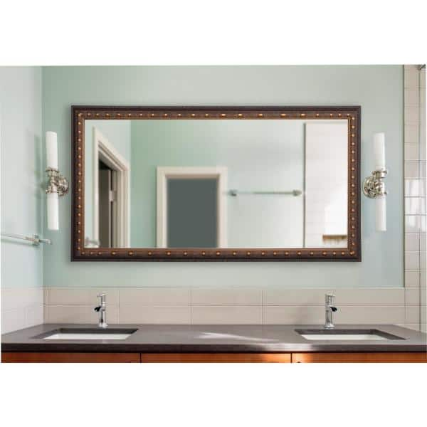 30 In W X 65 In H Framed Rectangular Bathroom Vanity Mirror In Bronze Dv042m The Home Depot
