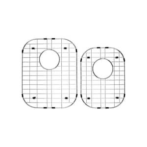 60/40 Double Bowl Radius Kitchen Sink Stainless Steel Grid Set