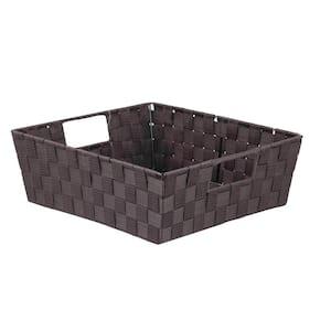 Whitmor 13 In D X 5 In H X 15 In W Latte Fabric Cube Storage Bin 6581 2711 Latte The Home Depot