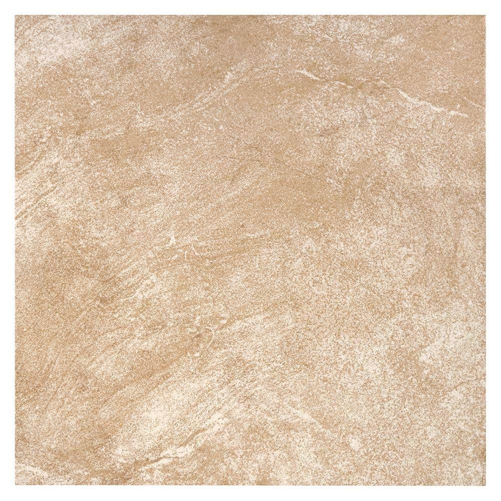 trafficmaster portland stone beige 18 in x 18 in glazed ceramic floor and wall tile 2 18 sq ft each pt011818hd1pv the home depot