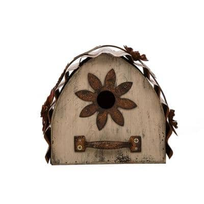 7 in. L Distressed Solid Wood Birdhouse