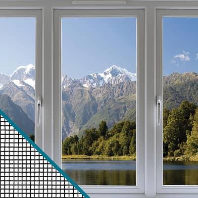 36 in. x 84 in. Clear Advantage Charcoal Fiberglass Window Screen