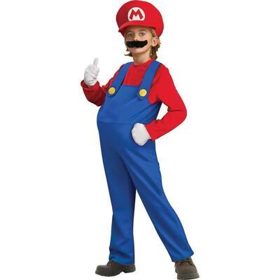 Super Mario Bros Small Boys Deluxe Mario Kids Costume
