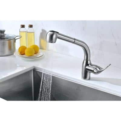 Harbour Single-Handle Pull-Out Sprayer Kitchen Faucet in Brushed Nickel