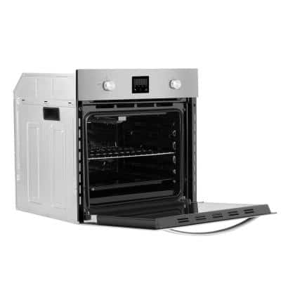 24 in. Single Gas Wall Oven with Convection in Stainless Steel - Soft Controls