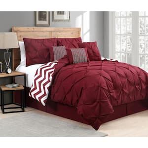 Venice 7-Piece Red Queen Comforter Set