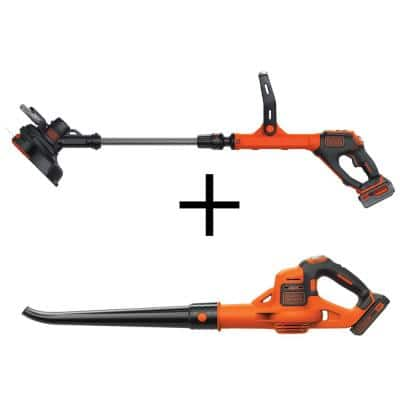 12 in. 20V MAX Lithium-Ion Cordless String Trimmer with (1) 3.0Ah Battery, (1) 2.0Ah Battery, Charger and Bonus Sweeper