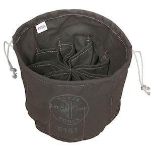 11 in. Ten-Compartment Drawstring Tool Bag