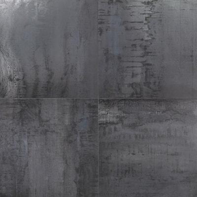 Angela Harris Metallic Dark Gray 24 in. x 24 in. Matte Porcelain Floor and Wall Tile (15.49 Sq. Ft. / Case)