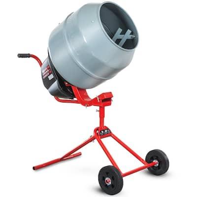 4.6 cu. ft. 130 l 550-Watt Portable Electric Concrete Cement Mixer Barrow Machine Mixing Mortar