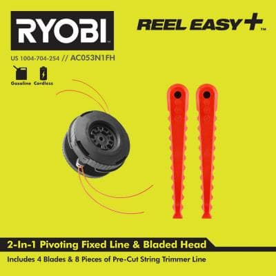 REEL EASY+ 3-in-1 Pivoting Fixed Line and Bladed Head for Bump Feed Trimmers